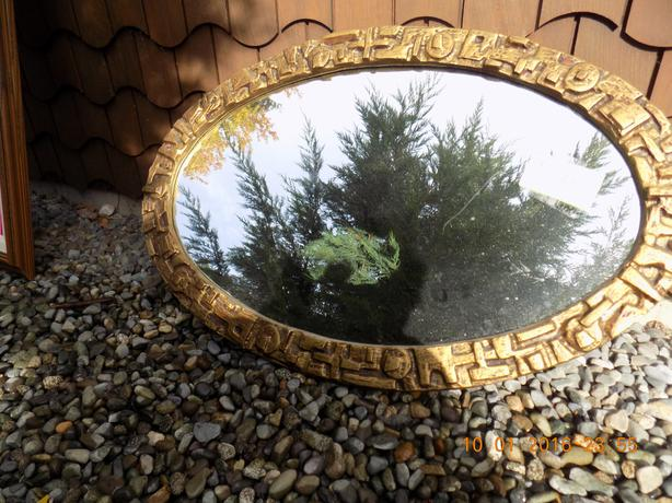 Oval Mirror with Frame