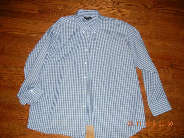 MENS 2XL STRUCTUBE LONG SLEEVE BUTTON DOWN DRESS SHIRT
