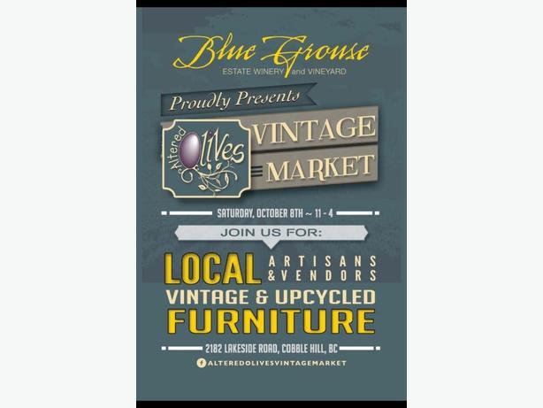 Altered Olives Vintage Market Sat Oct 8th at 2182 Lakeside Rd