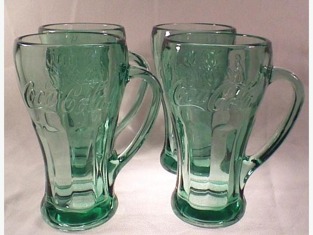 Libbey Coca-Cola glass mugs