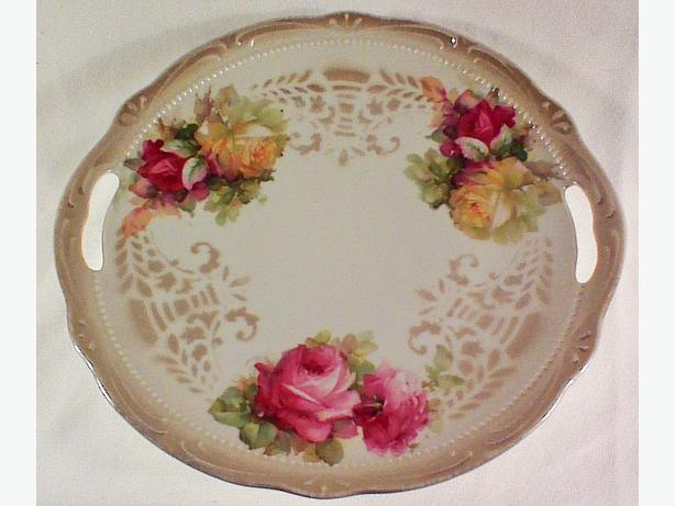 German porcelain serving plate