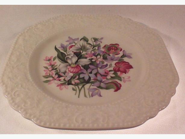 Lord Nelson floral emblems embossed plate