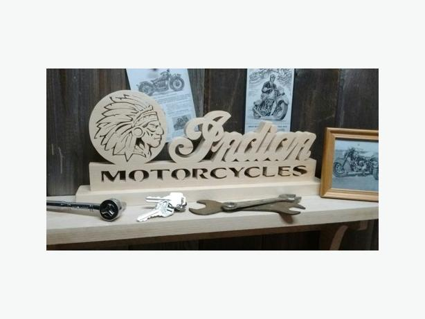 Man Cave Store Mississauga : Motorcycle emblem themed wall plaques shelf signs