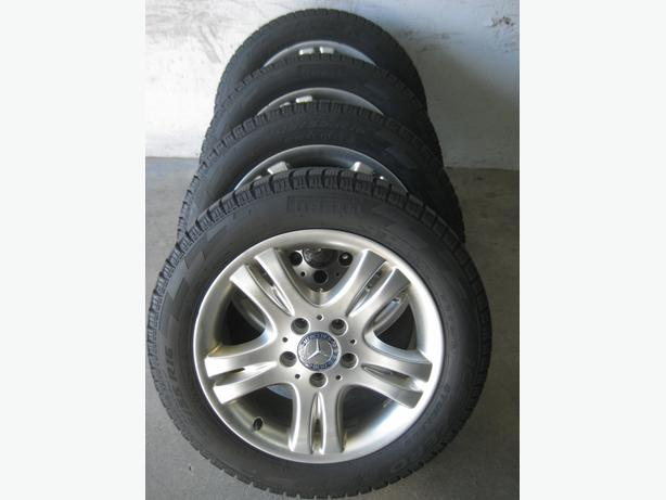 205/55R16, MERCEDES BENZ rimes and PIRELLI ICE ZERO winter tires