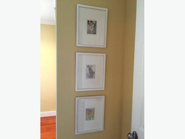 Beautiful Trio of White Matted & Framed Fairy Prints