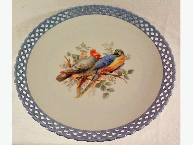 Schumann Bavaria parrots serving plate