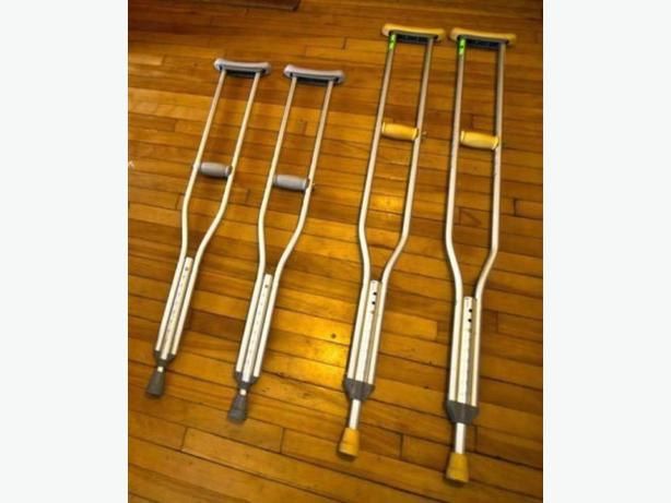Three Different Sizes Crutches Excellent Condition Aluminum