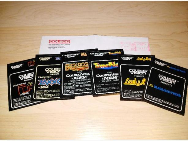 RARE Colecovision Replacement Labels With Colecovision Envelope