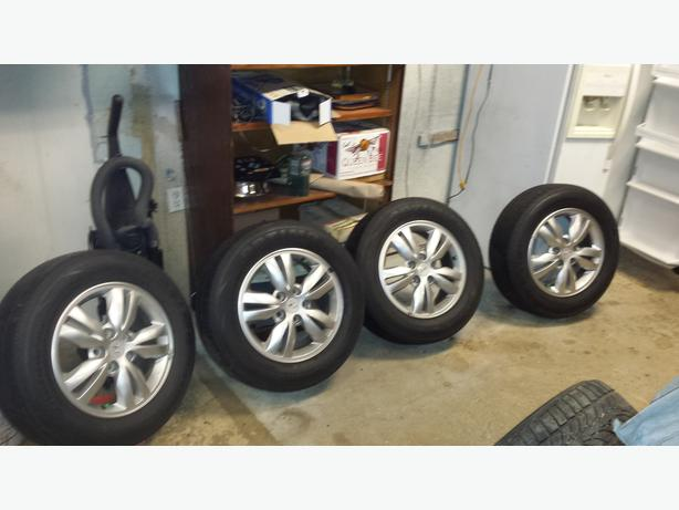 "Hyundai 16"" rims and Winter tires"