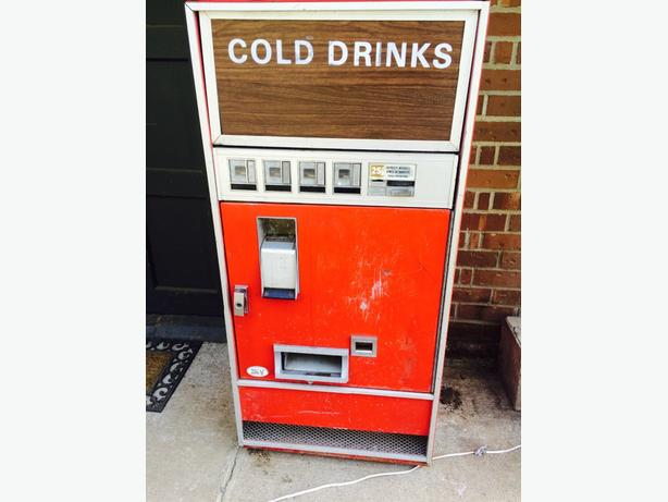 antique working Coke machine