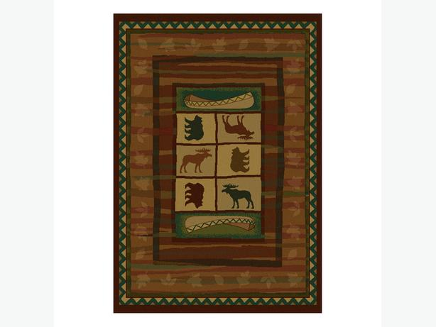 Great cozy den Lodge style area rug