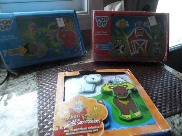 3 NEW very interesting puzzles for toddlers