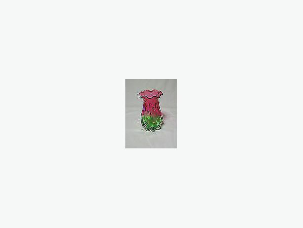 flower -vase watermelon tourmaline art