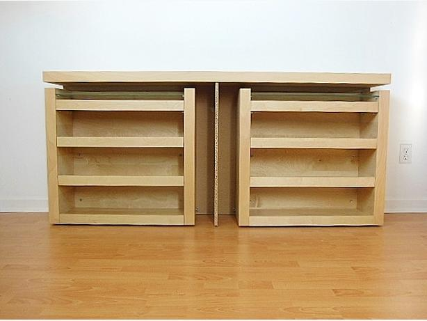 ikea malm queen size 3 pc headboard bed shelf set birch vancouver city vancouver. Black Bedroom Furniture Sets. Home Design Ideas