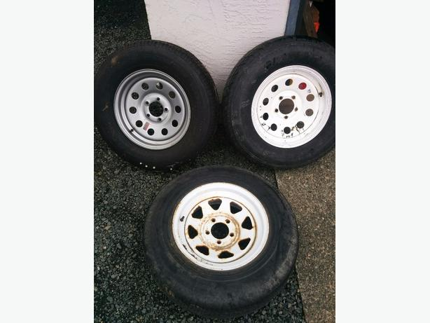 205/75 R15 Trailer Tires on Rims