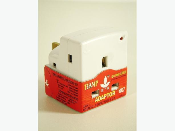 3-Way Fused Plug Adaptor Socket 13A