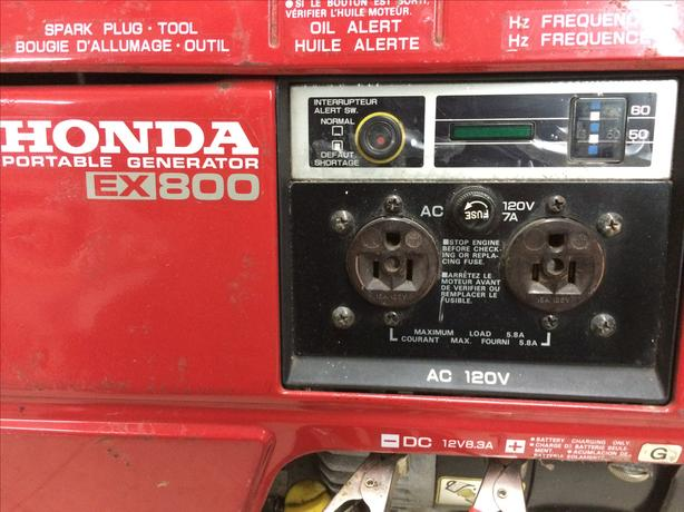 Honda EX800 Portable Gasonline Generator