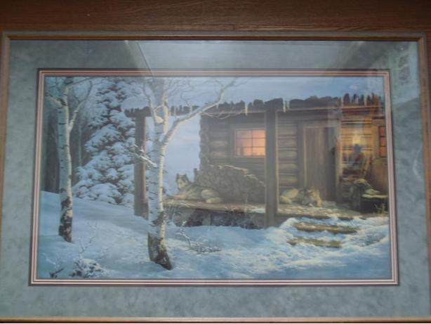 "Framed Wolf Creek Editions ""Mountain Retreat"" Picture"