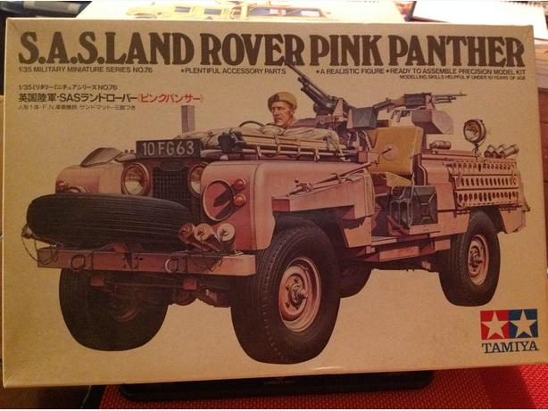 Tamiya S.A.S. Land Rover Pink Panther 1/35 scale model kit