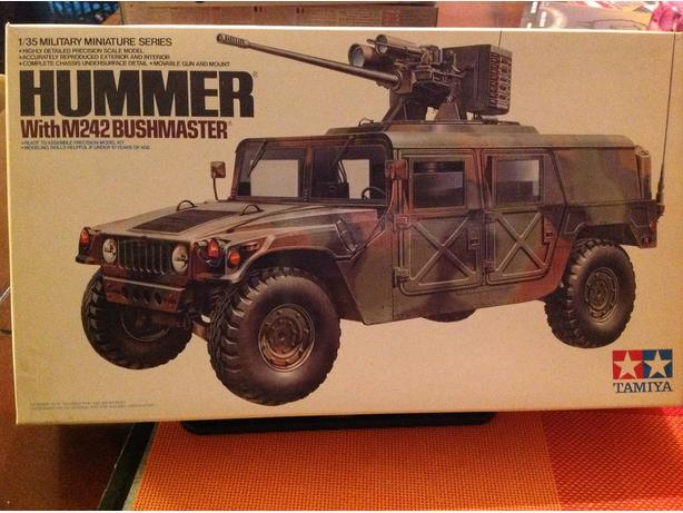 Tamiya Hummer with M242 Bushmaster 1/35 scale model kit
