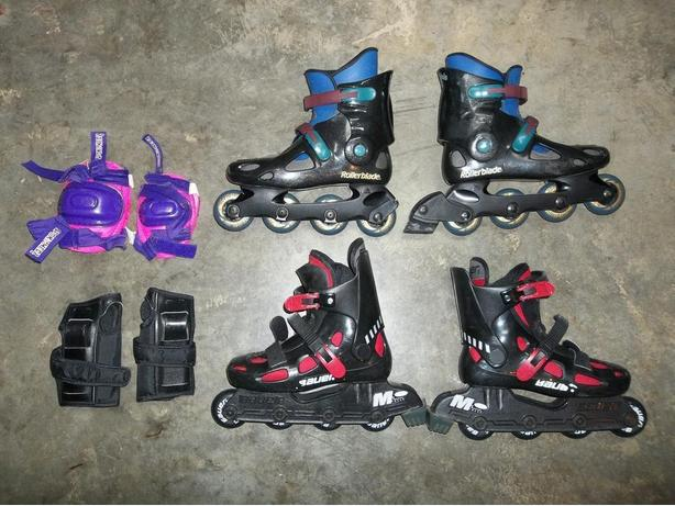 Roller Blades & Knee & Elbow Protectors