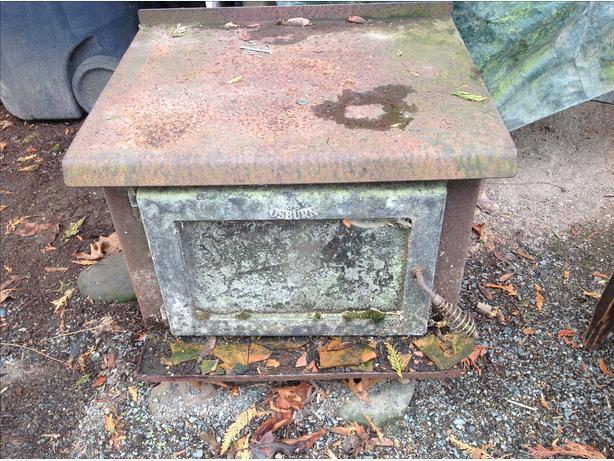 cast iron osburne stove.