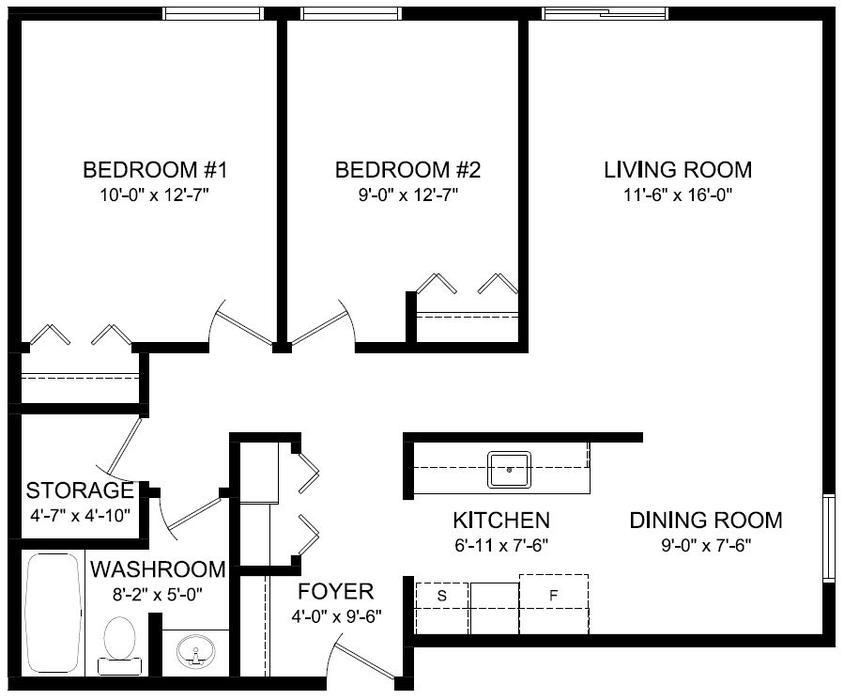 2 Bedroom Sunningdale Apartment For Rent Senior Discount Moose Jaw Regina