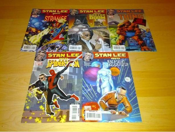 Lot Of 5 Stan Lee Meets Comics - Spiderman - Silver Surfer...