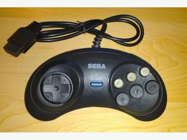 NEW 6 Button Sega Genesis Controller