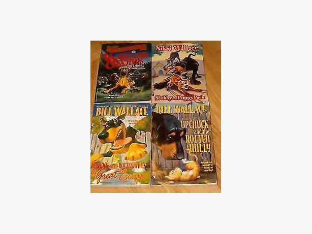 Bill Wallage books(about a dog cat )4 books