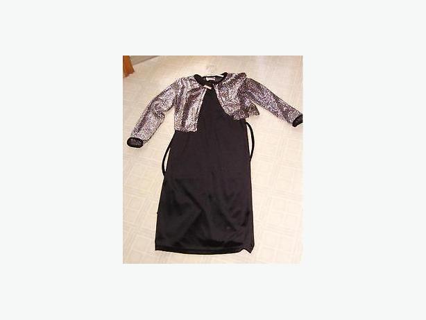dress long soft velvet with bolero jacket