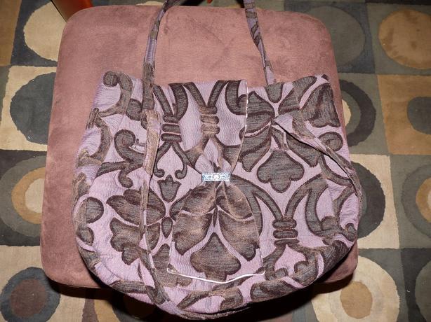 Purple fabric purse