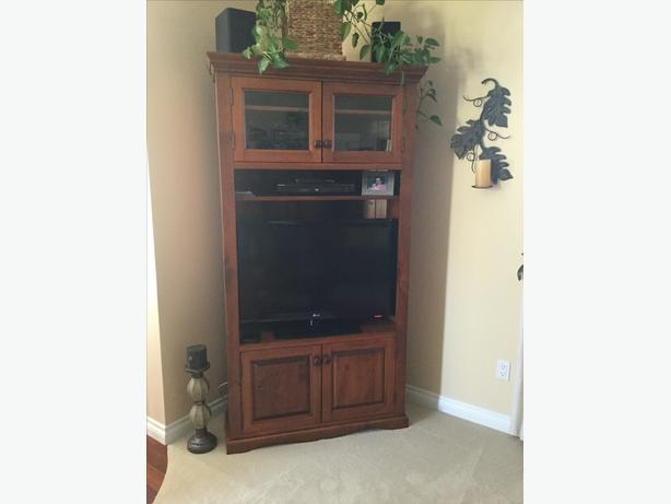 Custom Solid Wood Entertainment Cabinet