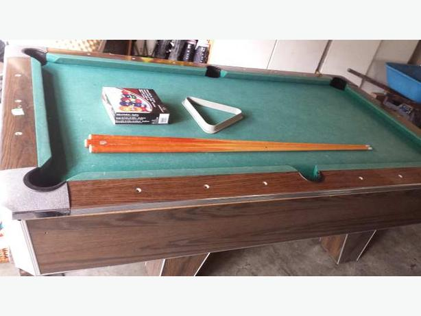 Slate one piece pool table saanich victoria for 1 slate pool table