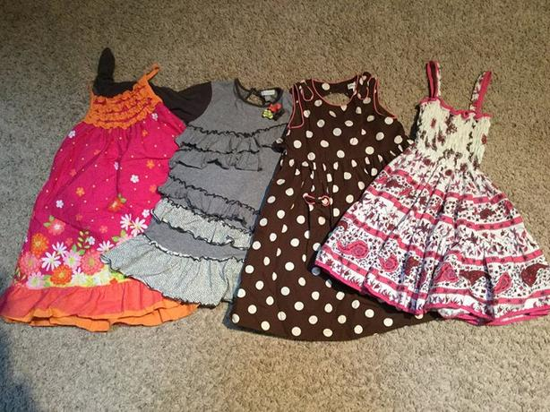 Girls Dresses Lot Size 4/5/6