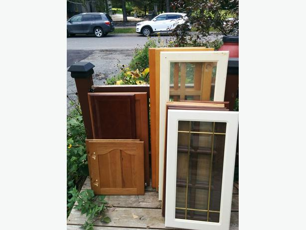 FREE: Westboro Deck Pickup: Cupboard Doors and Hinges!