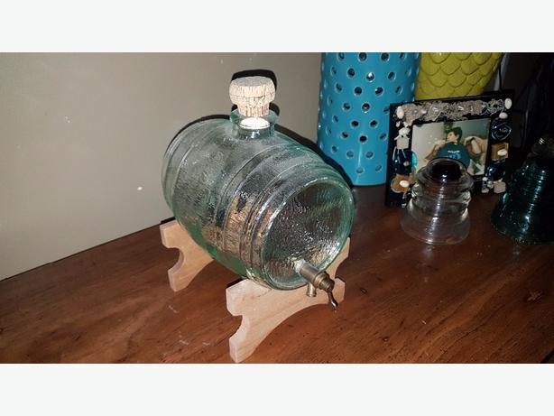 vintage whiskey glass barrel