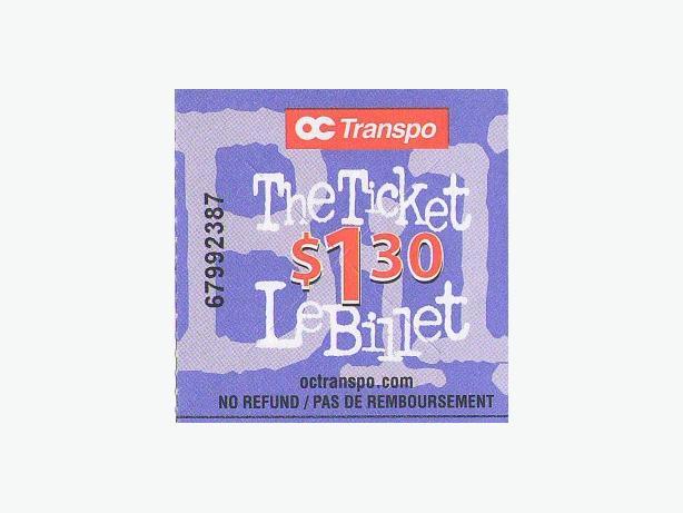 OC Transpo Bus tickets (22)