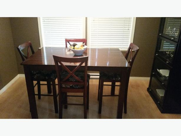 bar style dining room table chairs west shore langford