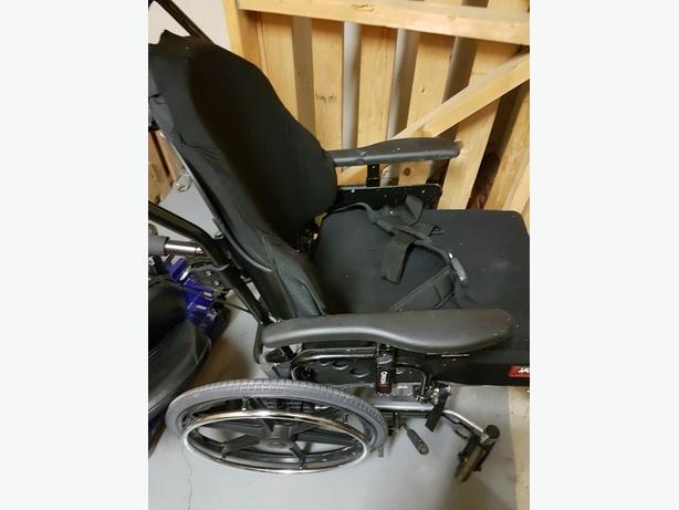 High end mobility tilt wheelchair