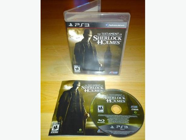 Testament Of Sherlock Holmes For The Playstation 3