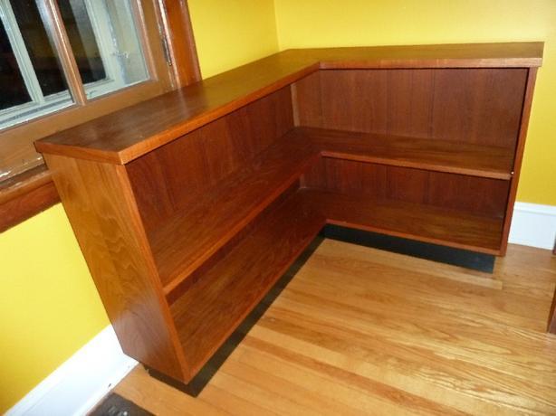 Teak Corner Shelf Unit  - Danish Mid Century Modern