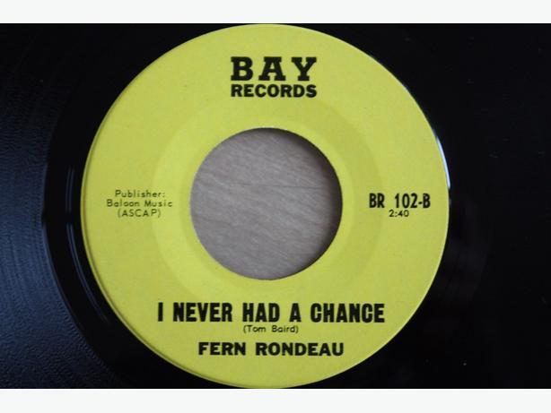 Rare Winnipeg singer Fern Rondeau 45 RPM