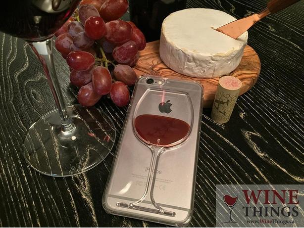 NEW red wine liquid iPhone case