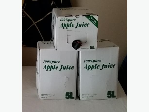 Apple Juice 5L Bag-in-Box ($10-$15/box) SOLD OUT