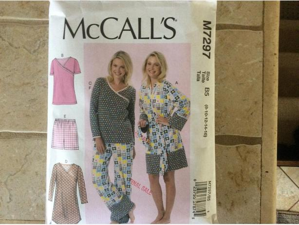 New McCalls Sleepware Sewing Pattern
