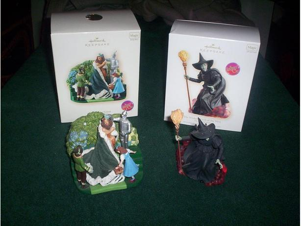 2 Wizard of Oz Musical Ornaments