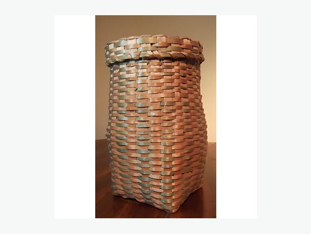 Antique Native Storage Basket With Lid