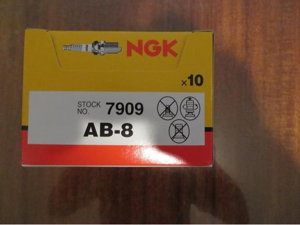 10 x NGK Spark Plugs SKI DOO Everest 440 74-79 NGK PN# AB8/ #7909