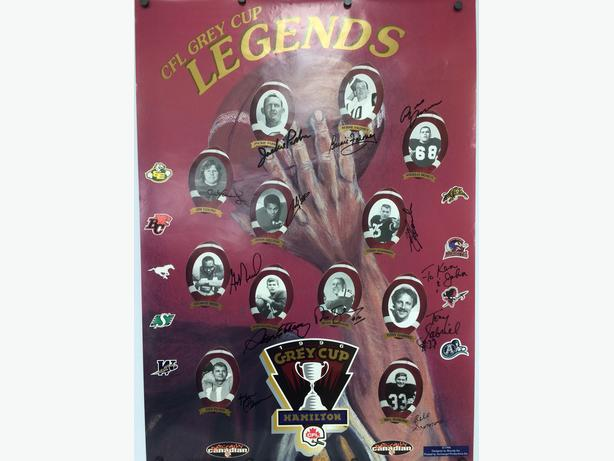 1996 Grey Cup  CFL Hall of Fame Poster-Personally Autographed